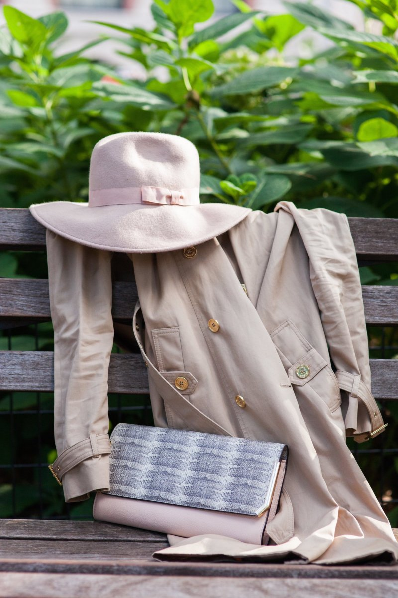 Blush Trench Details NYFW Fashion Blogger