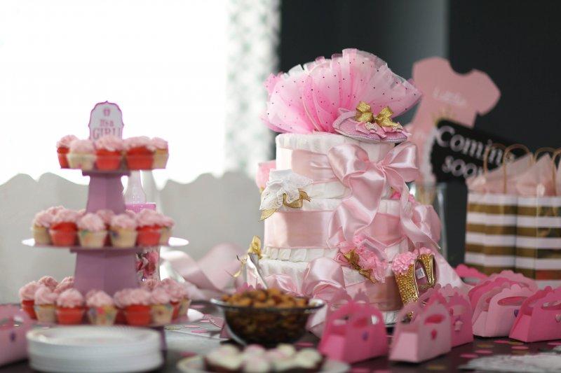 Princess Baby Shower Diaper Cake