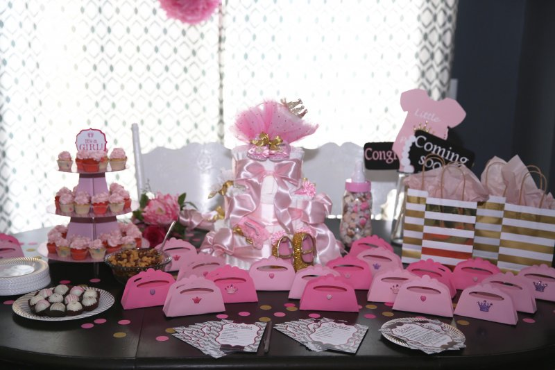 Pink Gold Princess Baby Shower