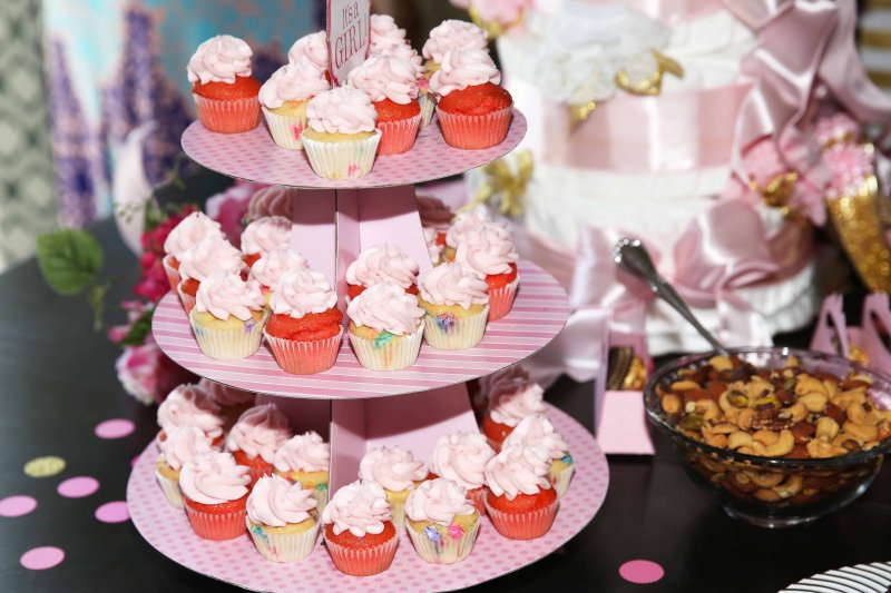 Pink Princess Cupcakes Girl Baby Shower Cake Tier