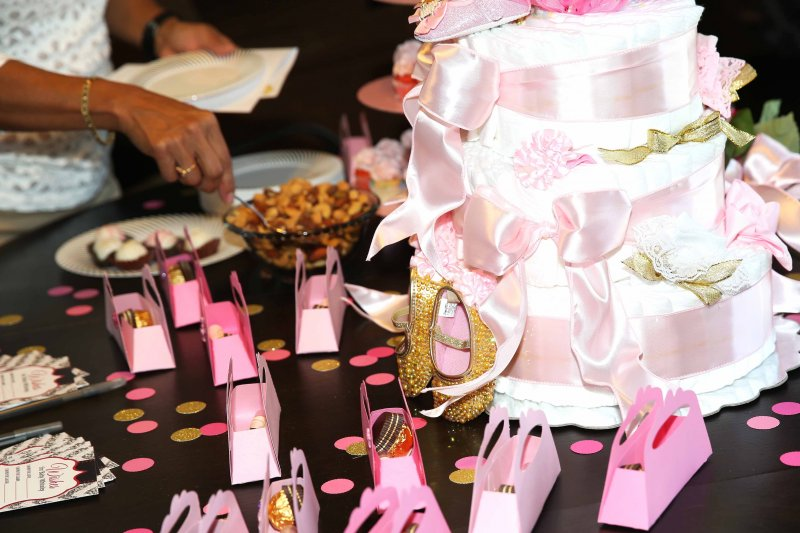 Pink Gold Princess Baby Shower Favors