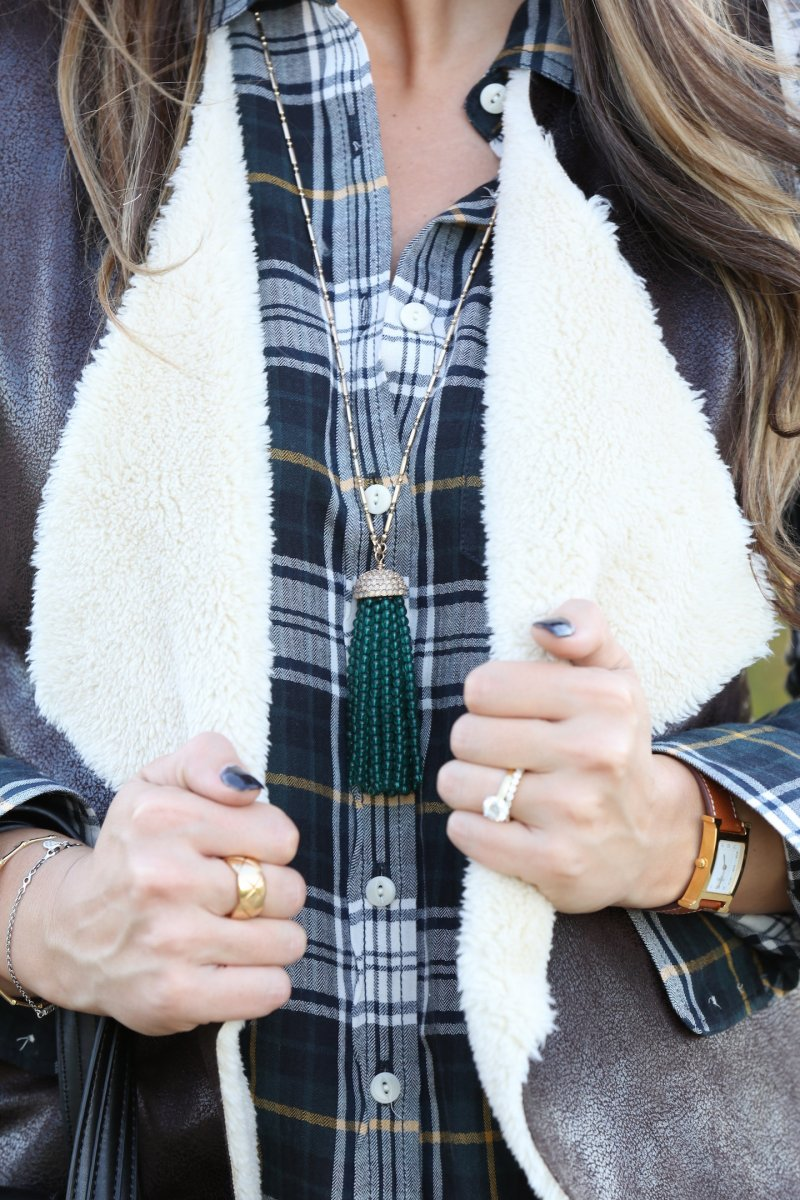 Fall 2015 Iowa Blogger Bauble Bar Tassel Necklace