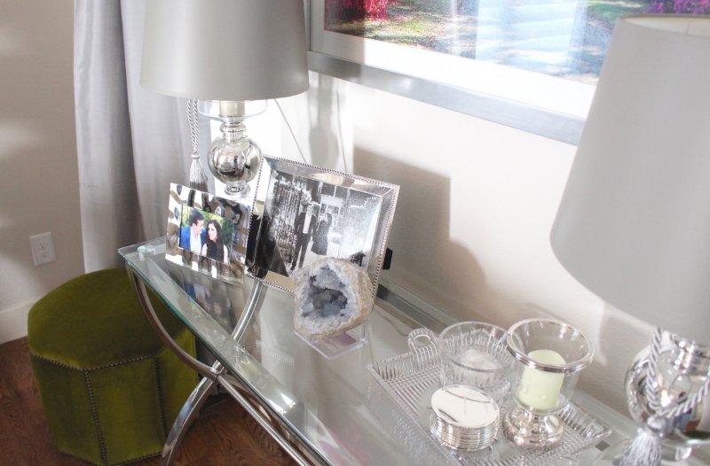 Dining Room Decor Silver Frames Crystal