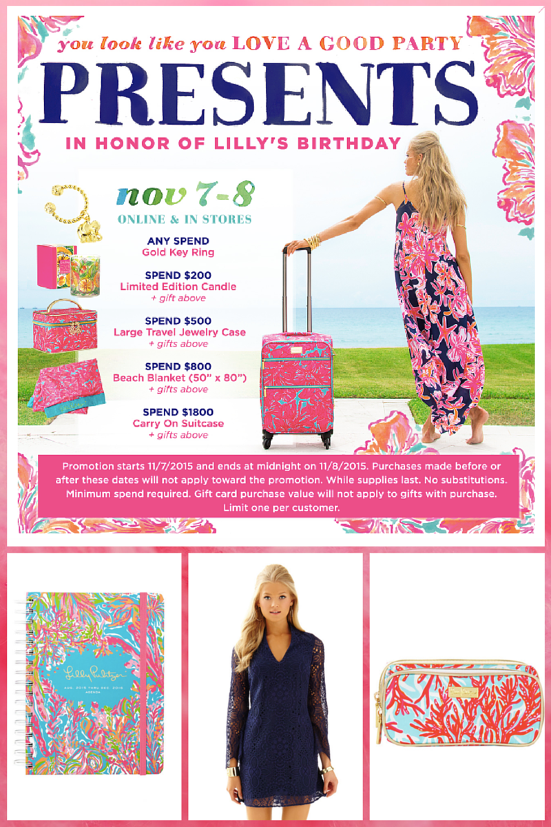 Lilly's Birthday Gifts With Purchase
