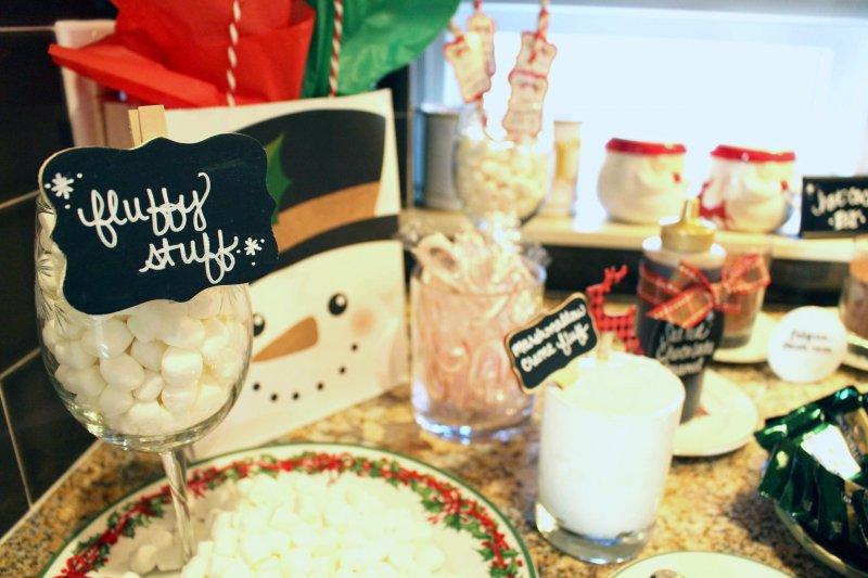 Holiday DIY party cocoa bar