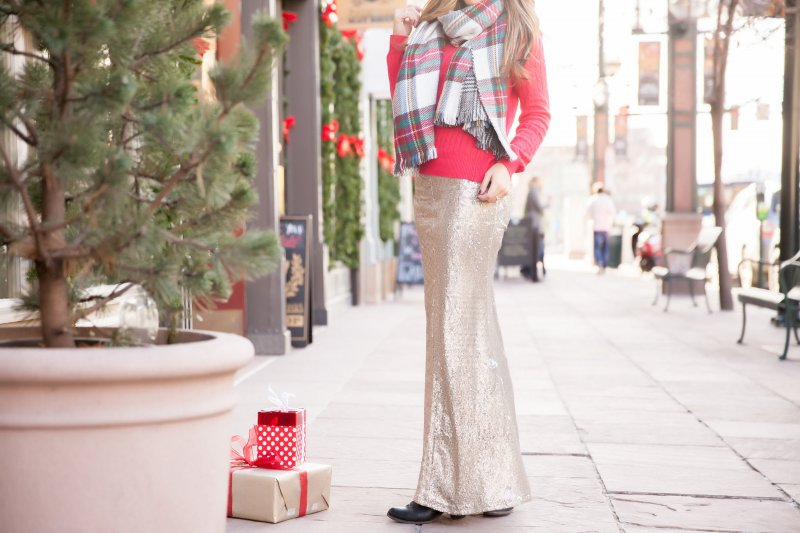 Christmas Sequin Skirt Holiday Style