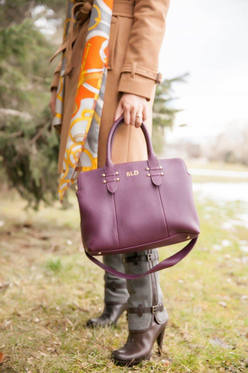 Camel Coat Wine Bag Gigi NY Fashion Blogger