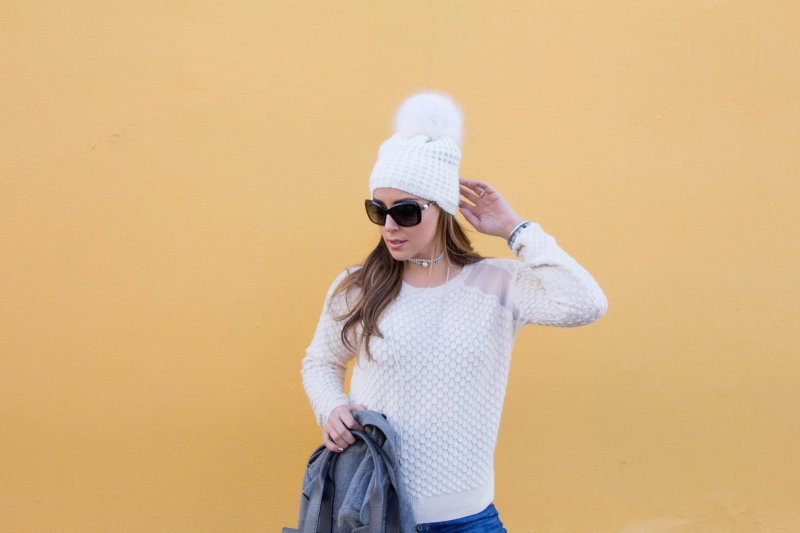 Gray Transitional Outfit Yellow Background