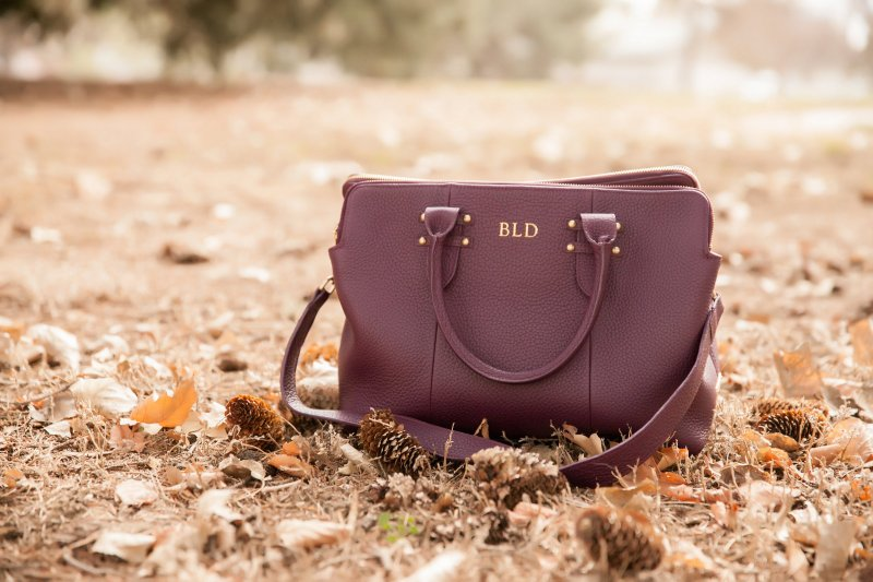 Camel Coat Wine Handbag Gigi NY Fashion Blogger