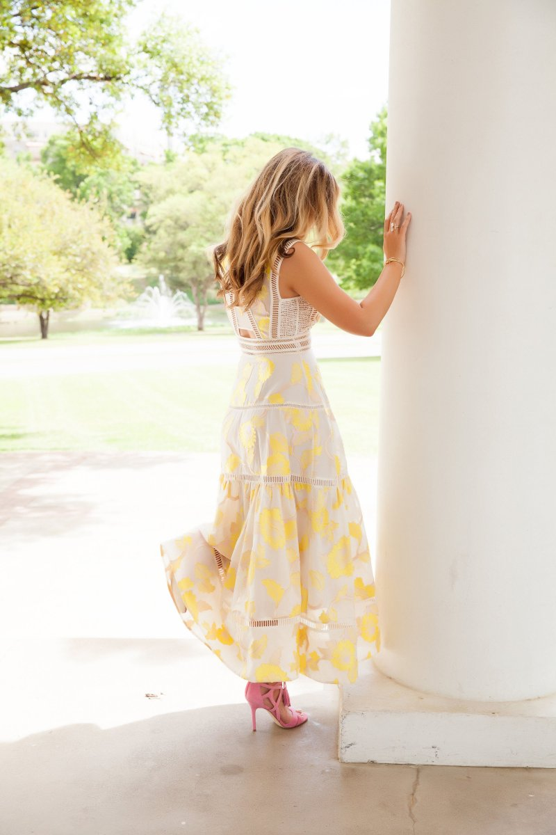 Yellow Rebecca Taylor Dress Feminine Style Summer 2016