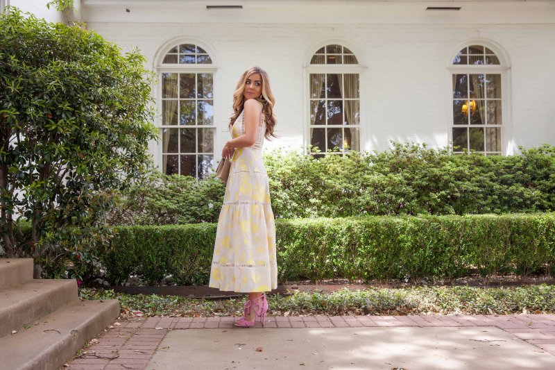 Yellow Rebecca Taylor Dress Feminine Fashion Blogger