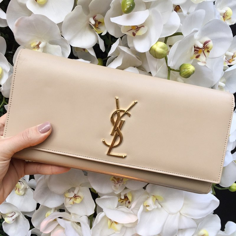 rewardStyle Conference YSL Beige Clutch