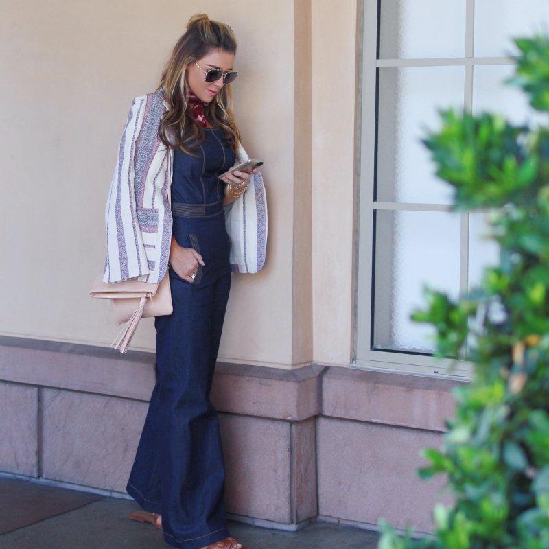 Denim Overalls Fashion Blogger