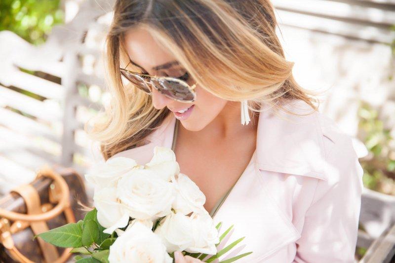 Pink Trench Coat Feminine Fashion Blogger Style