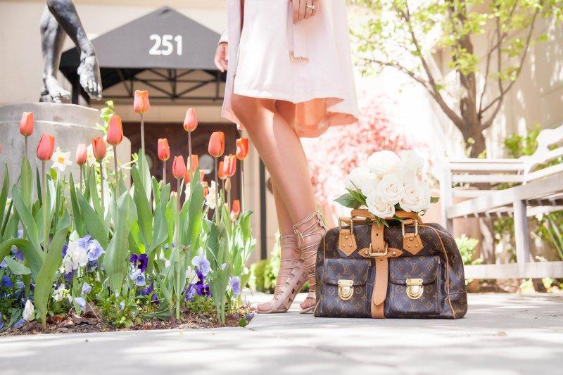 Pink Trench Coat Louis Vuitton Bag Fashion Blogger
