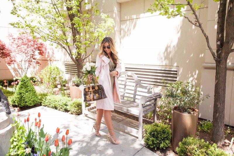 Blush Pink Trench Coat Fashion Blogger Style