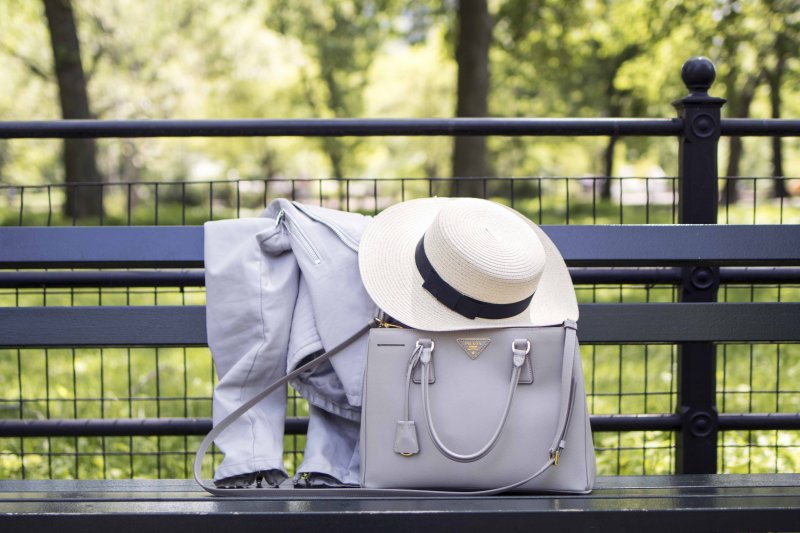 Boater Hat and Prada Tote