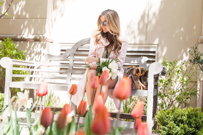 Blush Pink Trench Coat Denver Fashion Blogger