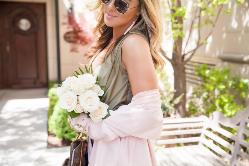 Blush Pink Trench Coat Spring Summer 2016 Style