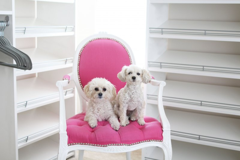 Pink Tufted Chair Custom Closet