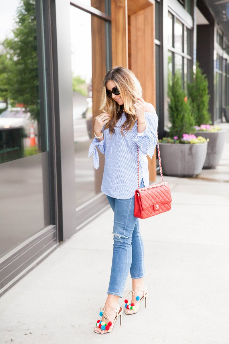 blue-striped-off-shoulder-top-fashion-blogger