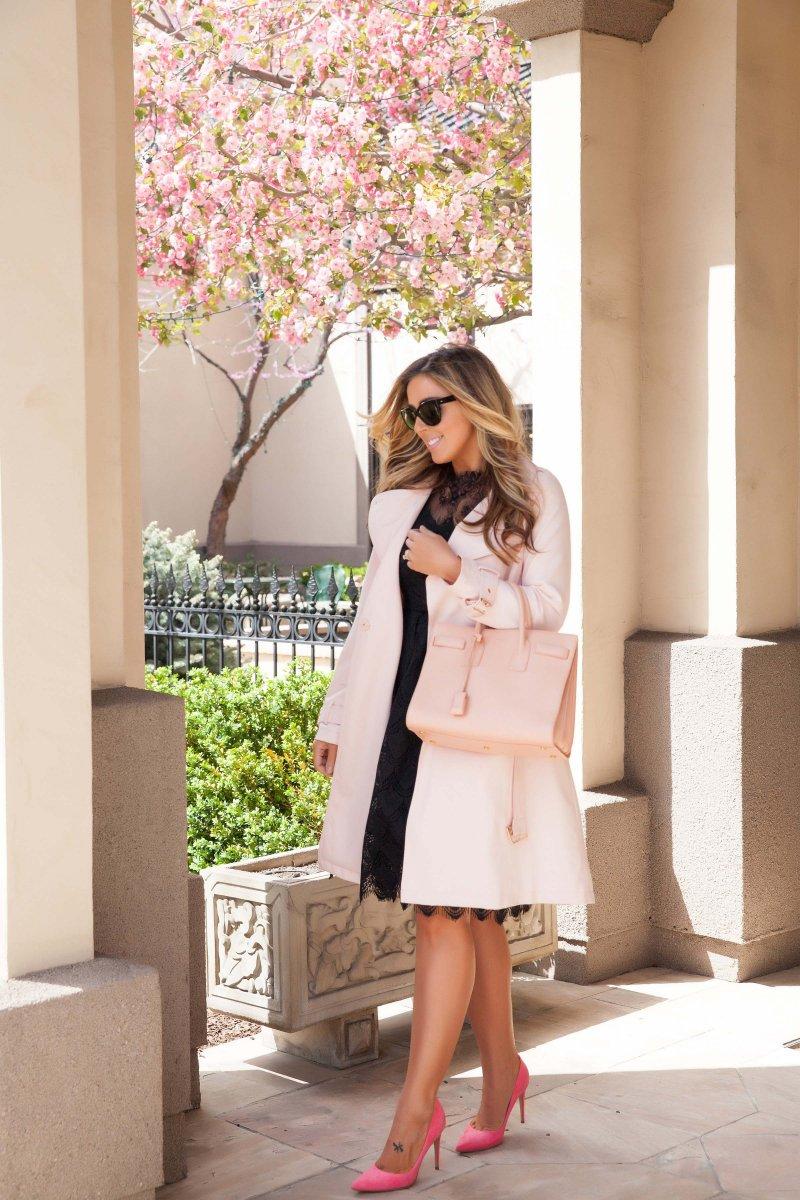 blush-pink-trench-black-lace-dress