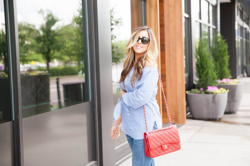 off-shoulder-top-red-chanel-classic-bag