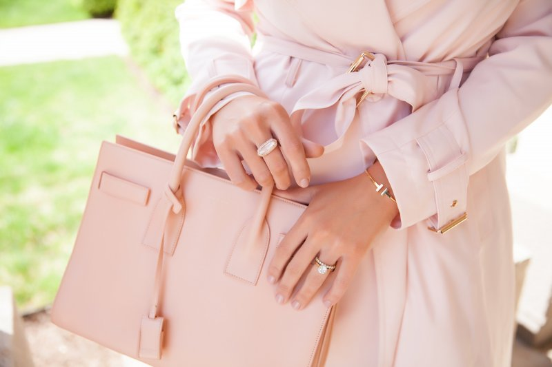 blush-pink-trench-coat-pink-saint-laurent-bag