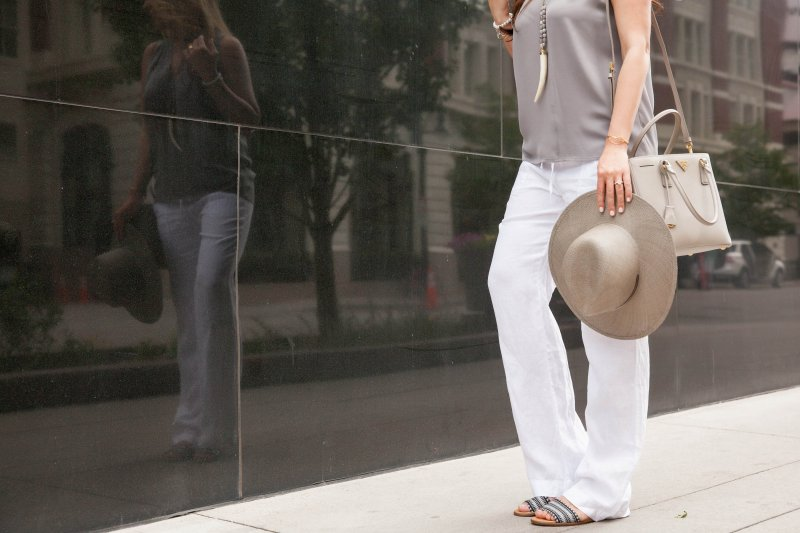 gray-linen-outfit