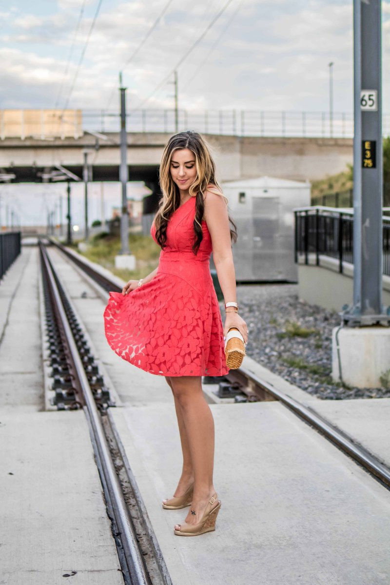 maggy-london-coral-red-dress