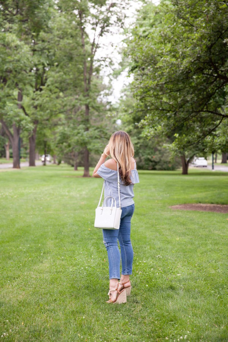 blue-striped-cold-shoulder-top