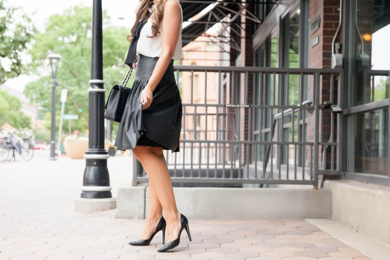 channel-bag-leather-skirt