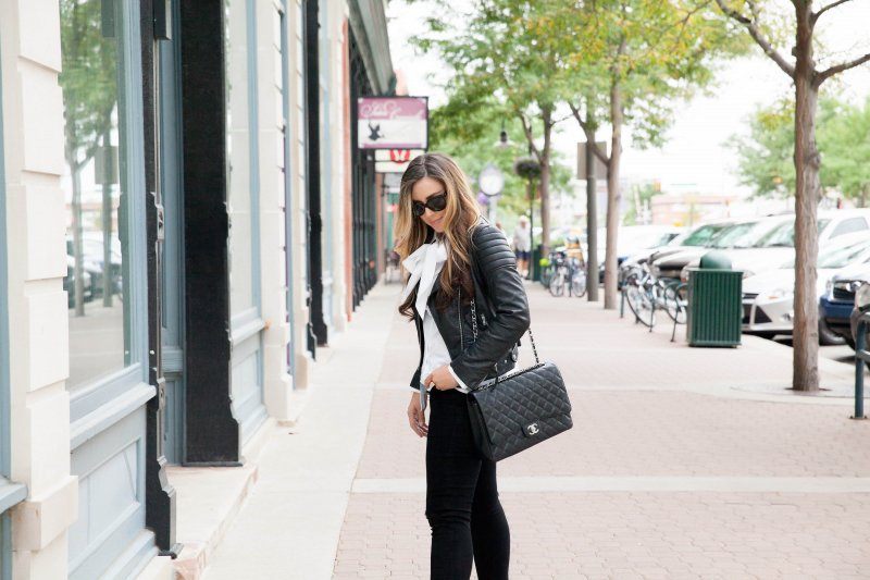 moto-jacket-chanel-classic-bag
