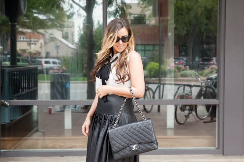 pleated-leather-skirt