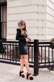 black-hm-ruffle-dress