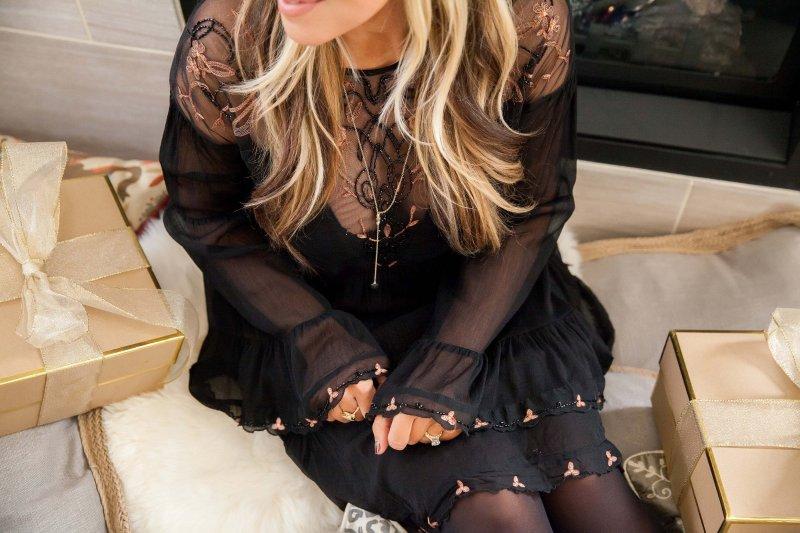 black-bell-sleeve-dress