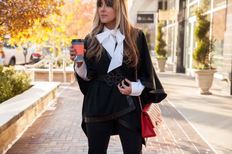 black-poncho-leather-trim
