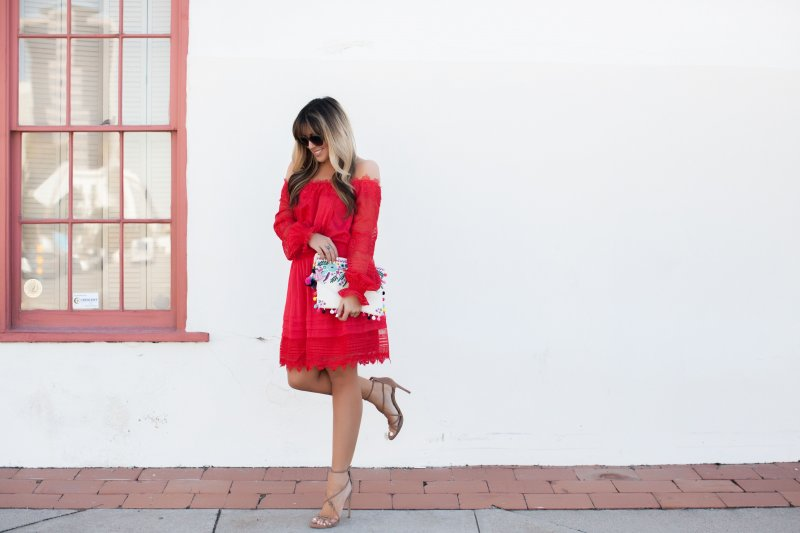 short-red-lace-dress
