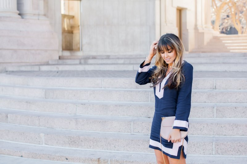 pink-trim-navy-dress