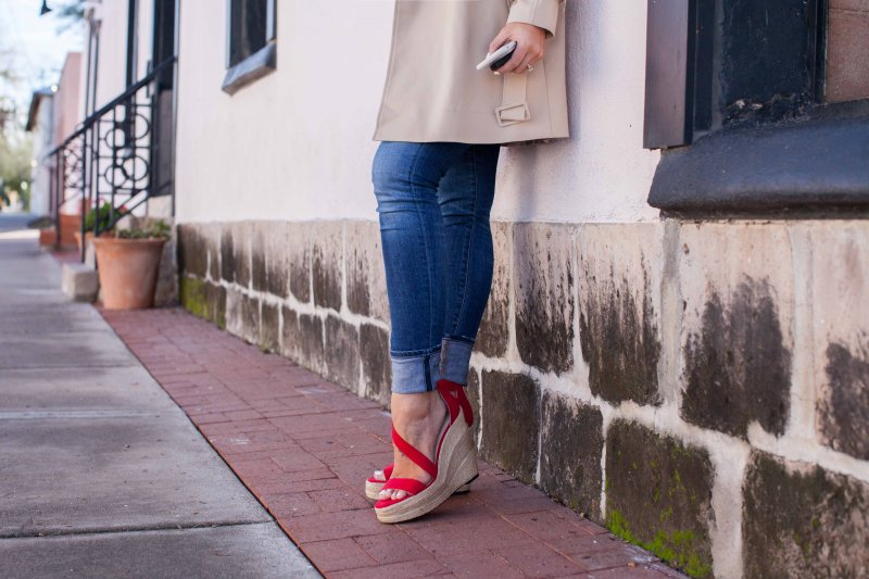 red-strappy-wedges