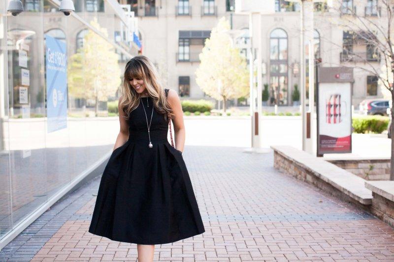 black-kate-spade-cocktail-dress