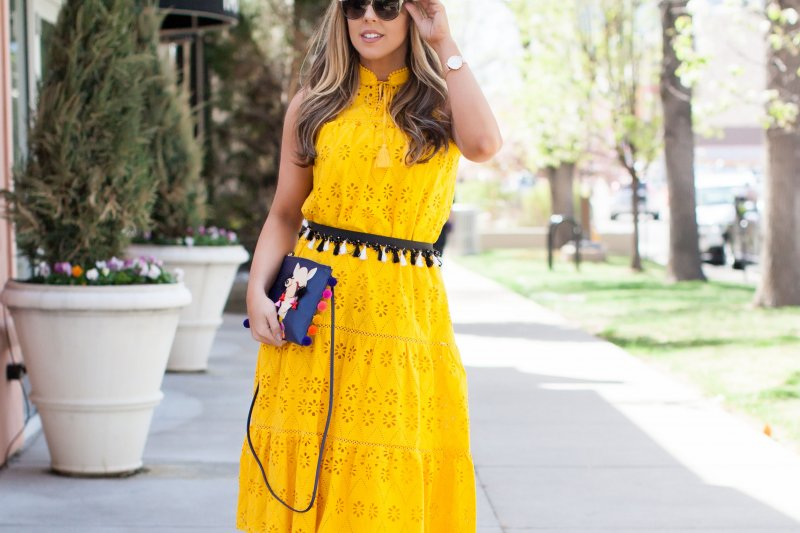 bright-yellow-dress-summer-2017
