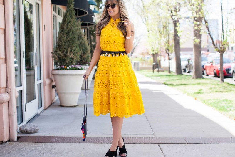 bright-yellow-midi-dress