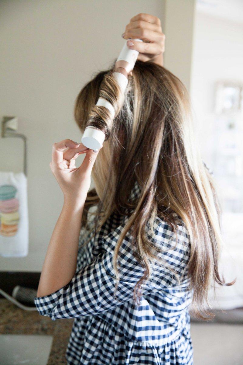 hair curling tutorial