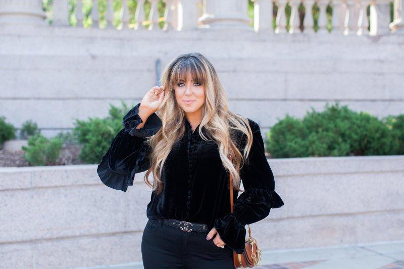 frame velvet blouse