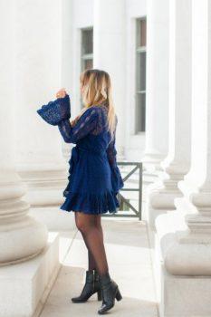 free people blue dress
