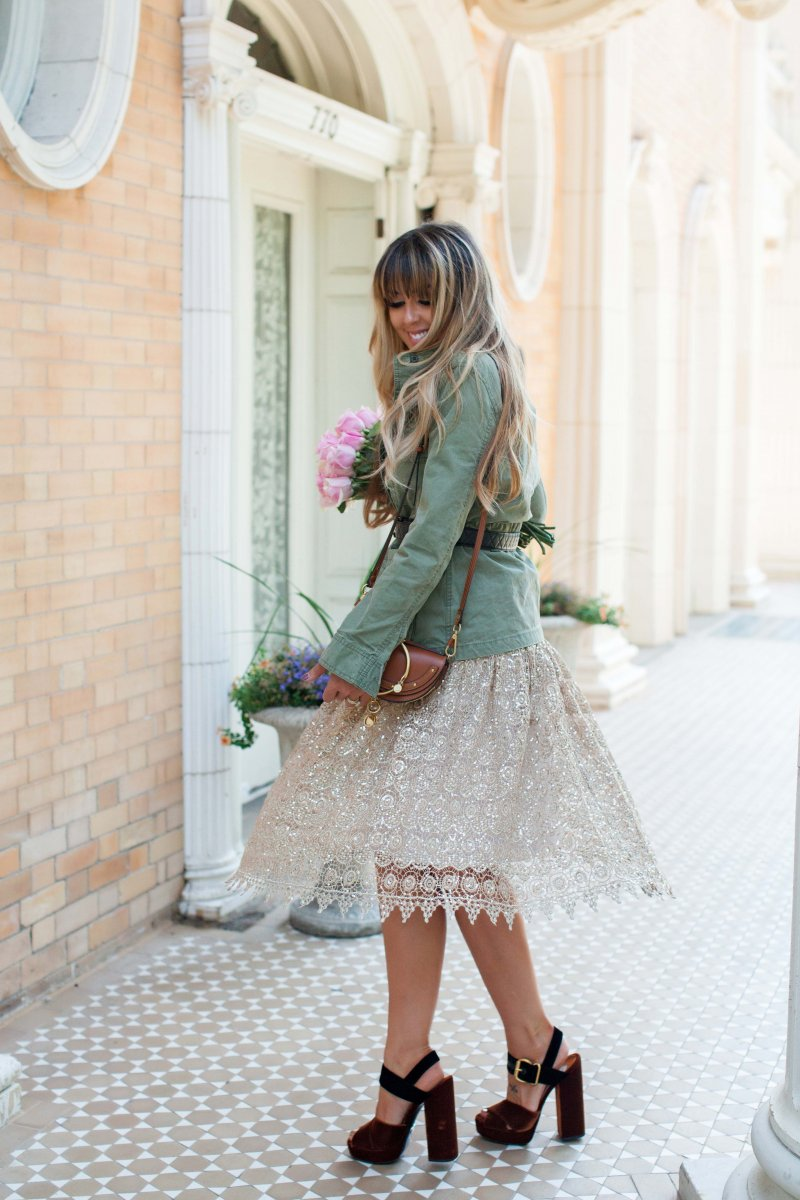 gold-lace-skirt