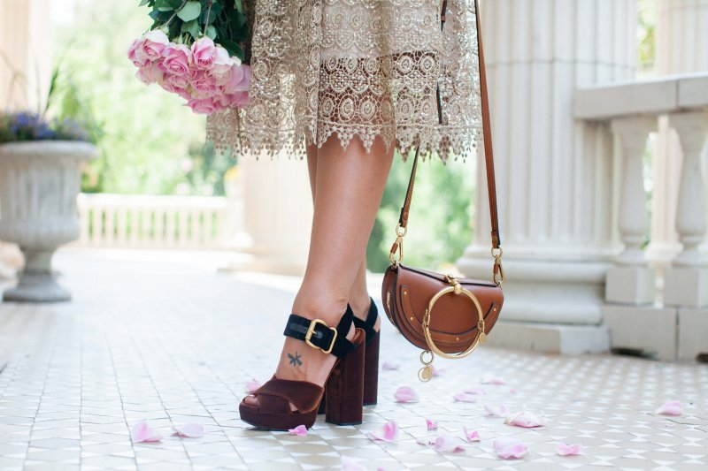 metallic-lace-skirt