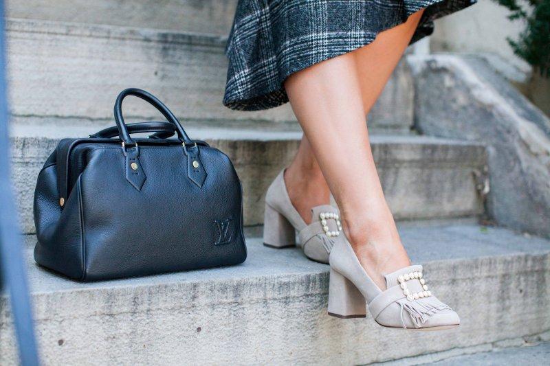 pearl suede loafer heels