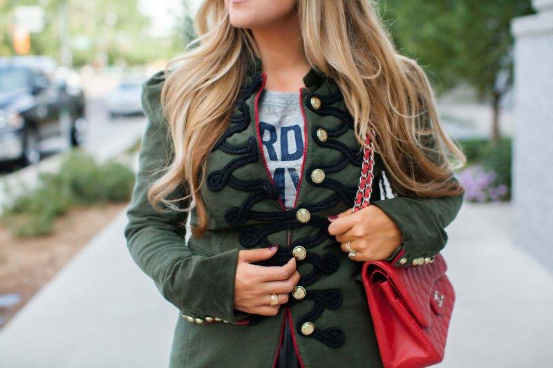 velvet military jacket